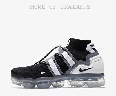 Nike Air VaporMax Flyknit Utility Black Cool Grey White Men's Trainers All Size