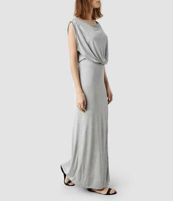 All Saints Muse Jersey Maxi Dress in Grey Size 12 BNWT £88