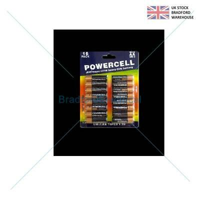 16pc Powercell AA zinc batteries 1.5V UM-3 extra heavy duty extra super charger