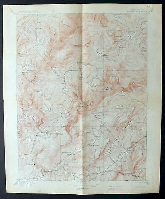 1897 Bidwell Bar California Oroville East Antique 30-minute USGS Topo Map