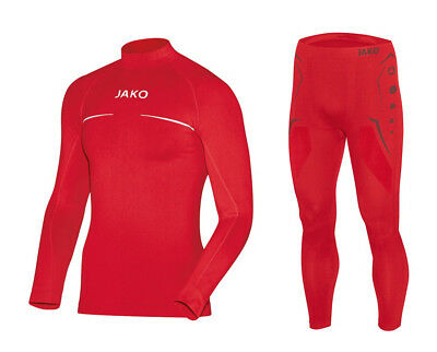 JAKO Kinder Turtleneck Funktionsunterwäsche Set Ski Thermo Comfort rot 116-176