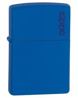 Zippo 229ZL Royal Blue Matte Lighter with Logo