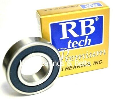 25x47x12 Premium Sealed Bearing ABEC3//C3//EMQ 6005-2RS 6005 RS USBB Qty 2