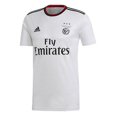 Official Benfica Football Away Shirt Jersey Tee Top 2018 19 Mens adidas