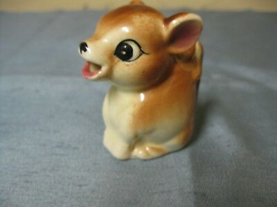 Vintage Acme Ware Japan Small Fawn Deer Bambi Creamer Cream Pitcher