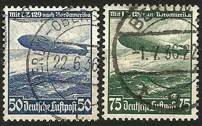 Germany (Third Reich) 1936 Used - Air Mail Airship Hindenburg L.Z.129 over Ocean