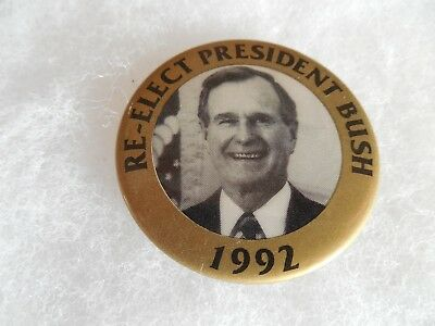 Presidential George Bush Campaign Pin Back Button President 1992 Candidate