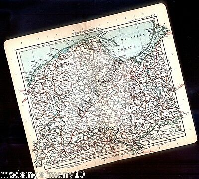 """ WESTPREUSSEN "" Orig. historic cut map /colorierte Kupferstich Karte 1914 perth"