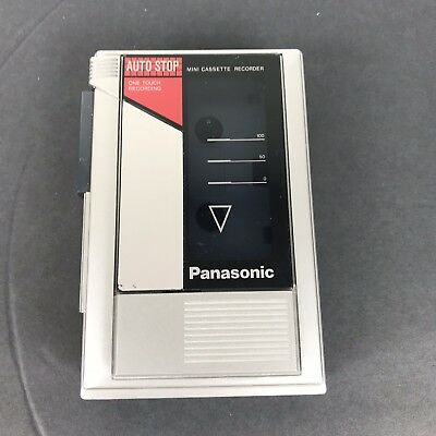 Vintage Panasonic Model No. RQ-345 One Touch Mini Cassette Recorder
