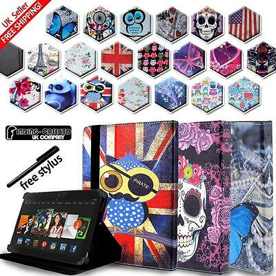 """New FOLIO LEATHER STAND CASE COVER For Amazon Kindle Fire 7"""" 8"""" 8.9"""" 10"""" Tablets"""