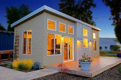 TINY HOUSE 8x40 320 SQ FT WITH W/O LOFTS 1-2 BEDROOM STEEL CONSTRUCTION PRE-FAB