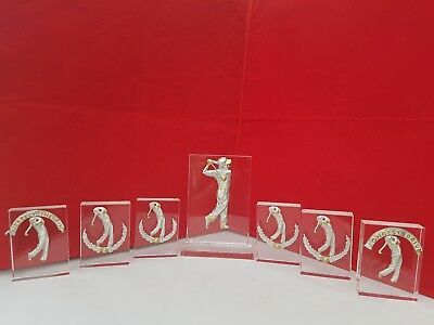 Golf Trophies / Golf Trophy Pack Solid Crystal Free Engraving