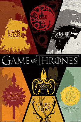 Stark Game of Thrones HousesQuality A3 Movie Poster Art Gift Lannister