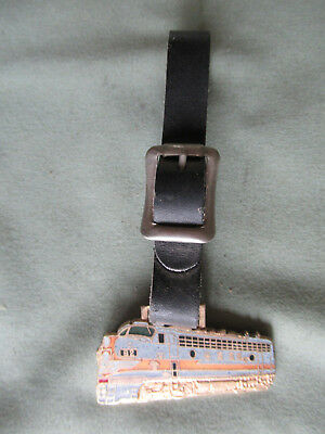 Railroad Watch Fob from The Milwaukee Road RR with its Leather Strap