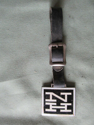 Railroad Watch Fob from The New Haven RR with its Leather Strap in Exc. Cond.