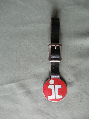 Railroad Watch Fob from Illinois Central with Leather Strap