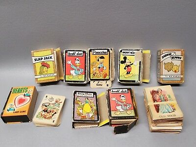 Vintage Cartoon Card Games Miniature Russell Mfg lot of 9