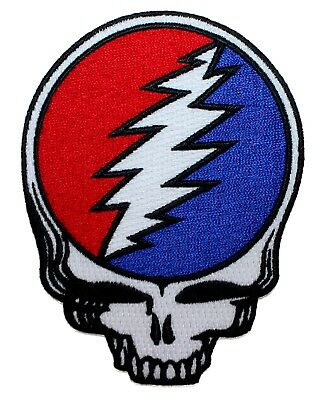 Grateful Dead Die-Cut Steal Your Face Patch Skull Band Logo Iron On Applique