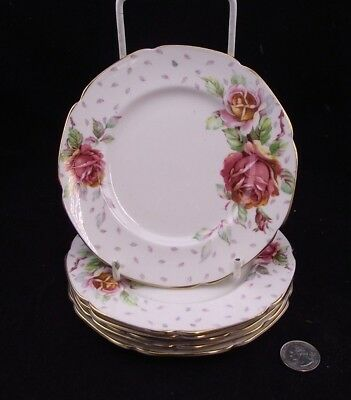 "6 Paragon 6"" Golden Emblem Bread And Butter Or Side Plates"