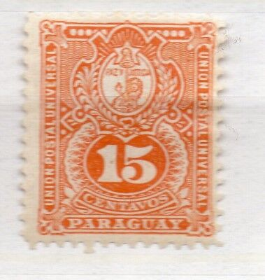 Paraguay 1887 Early Issue Fine Mint Hinged 15c. 279884