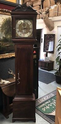 Antique Early 20th Century Mahogany Long-case Grandfather Clock