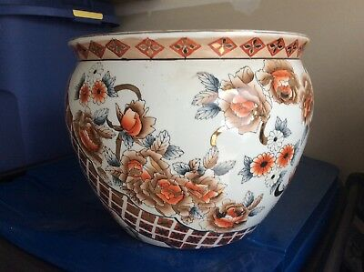 Beautiful X-Large Asian/Oriental Koi Fish Bowl Planter