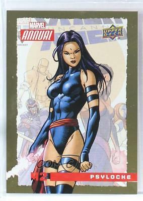 2016 Upper Deck Marvel Annual Gold #42 Psylocke Non-Sports Card 4jc
