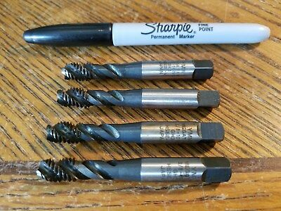 YMV, Hand Taps, 3/8-16,   Spiral Flute, Lot of 4