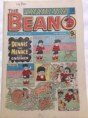 DC Thompson THE BEANO Comic. Issue 2046 October 3rd 1981 **Free UK Postage**