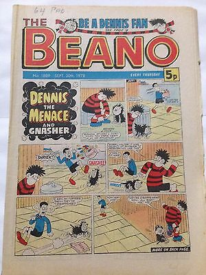 DC Thompson THE BEANO Comic. Issue 1889 September 30th 1978 **Free UK Postage**