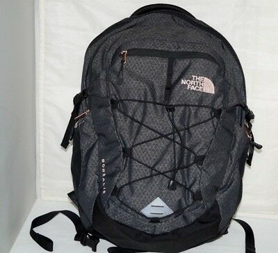 NWT Authentic NORTH FACE BOREALIS Heather Black/Rose Gold Laptop/Backpack