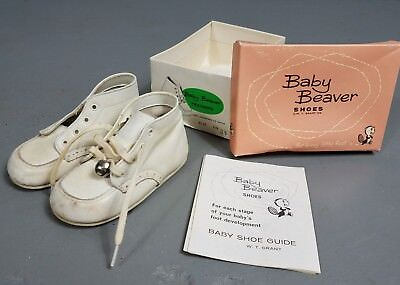 Vintage Pair BABY BEAVER SHOES Size 3.5 Trainers +Orig Box and leaflet