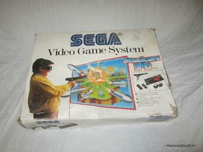RARE Original Sega Video game System Sega Scope 3d BOX and Foam ONLY