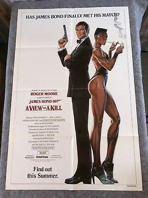 "A VIEW TO A KILL 1985 ORIG. 1 SHEET MOVIE POSTER 27""x41"" (F/VF) 007 JAMES BOND"