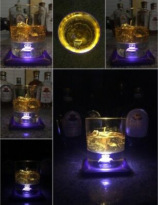 Crown Royal Hologram 3D Laser Etched Whiskey Glass Gel Candle. Collectors Glass