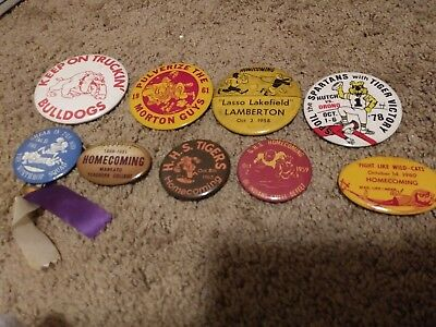 60s And 70s Minnesota High School Homecoming Buttons