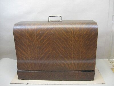 Antique Tiger Oak New Home LIght Running VS Sewing Machine Bentwood Case Only