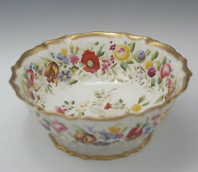 """Antique Hammersley England Bone China Hand Painted 9"""" Bowl Footed"""