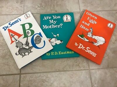 NEW 3 - Dr. Seuss's ABC ARE YOU MY MOTHER Green Eggs & HAM Hardcover MSRP $26.97