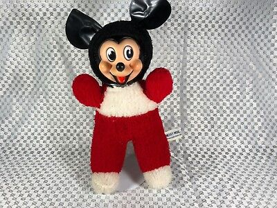 """Vintage Mickey Mouse 12"""" Disney Made in Japan by Gund & J. Swedlin Inc. w/ Stand"""