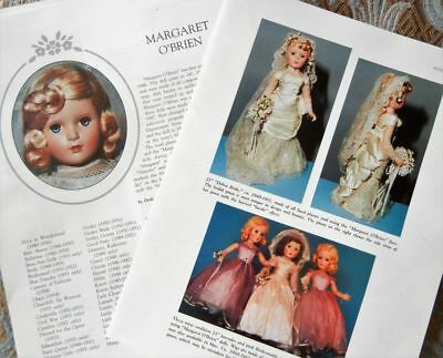 5p History Article -  VTG 1940-50s Madame Alexander Margaret O'Brien Compo Dolls