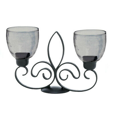 Gallery of Light - Fleur De Lis Duo Candle Stand
