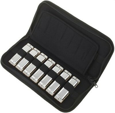 Seydel Soloist Pro 7 Harmonica Set With Case -Sealed Wood Comb- Made in Germany