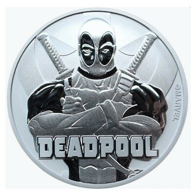 Deadpool Marvel Silver Coin In Stock 999 F