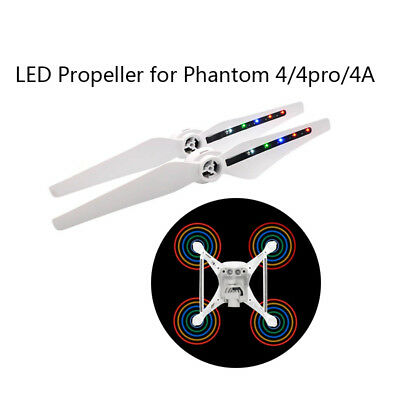 2 Pairs LED Light Flash Propeller USB Charging For DJI Phantom 4 Pro Accessories