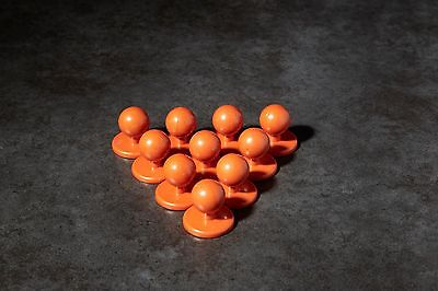 Orange chef buttons jacket brand new set of 10 cheap buy it now