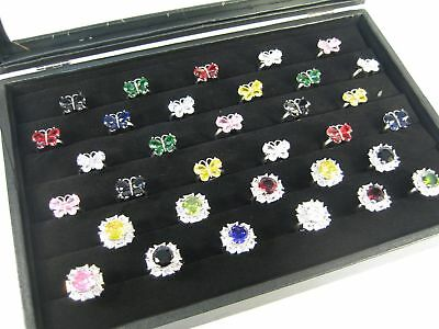 Glass Top Black Case Showcase Box For Ring Cuff Link Earrings Display