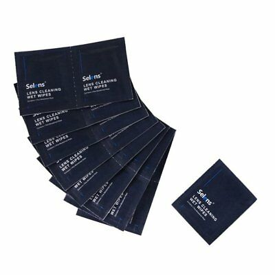 Selens 50pcs Screen Cleaning Wet Wipes for Camera Optical Glass Lens Cleaner