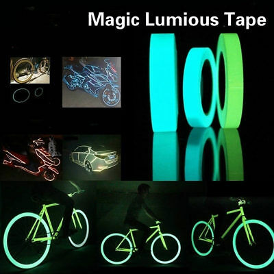 2Roll Glow In The Dark Sticky Tape Self Adhesive Luminous Saftey Film Sticker 3m