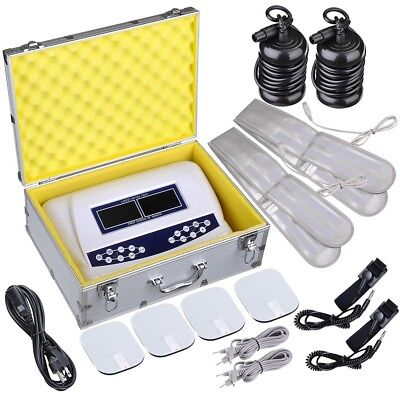 Dual User Foot Bath Spa Machine Ionic Detox Cell Cleanse Colored LCD Display